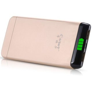 Cager S15 Power Bank 6000 mAh 2USB Port Zwart