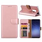 Ntech Samsung Galaxy S9 Plus  Booktype / Portemonnee TPU Lederen Hoesje Rose Goud