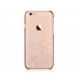 Ntech Devia Champagne Goud Crystal Rococo PC Transparant Back Cover Hoesje iPhone 6 / 6S Plus