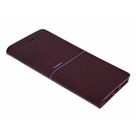 Nuoku Nuoku Bordeaux Elegant TPU Leder BookType Hoesje iPhone 8 Plus / 7 Plus