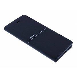 Nuoku Nuoku Zwart  Elegant TPU Leder  BookType Hoesje iPhone 8 / 7