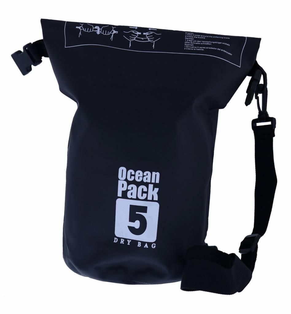 Nillikin Waterdichte Ocean Pack Tas 5 Liter Zwart ...