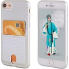 Nuoku Zilver Back Cover Hoesje Carbon Print Met Cardslot iPhone 8 / 7 Plus