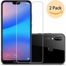 2 Pack - Huawei P20 Lite  Beschermglas Screen Protector / Glazen Tempered Glass