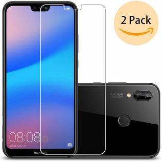 Ntech 2 Pack - Huawei P20 Lite  Beschermglas Screen Protector / Glazen Tempered Glass