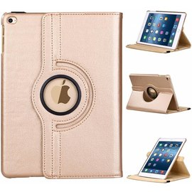 Ntech Apple iPad 9.7 (2018) Hoes Case Cover 360° draaibaar Multi stand Champagne Goud