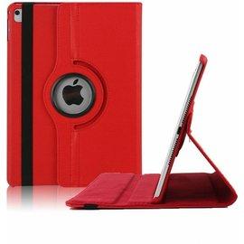 Ntech Apple iPad 9.7 (2018) Hoes Case Cover 360° draaibaar Multi stand Rood