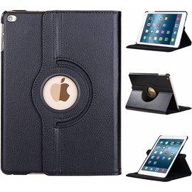 Ntech Apple iPad 9.7 (2018) Hoes Case Cover 360° draaibaar Multi stand Zwart
