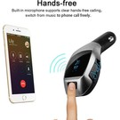 Merkloos X5 MP3 Bluetooth Adapter / Wireless Bluetooth FM Transmitter Radio Adapter Car Kit Met USB SD Card Reader en Call Remote Control