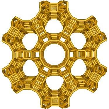 Honingraatstructuur clinoptiloliet zeoliet