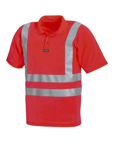 Blaklader Piqué polo High Vis met striping 3310