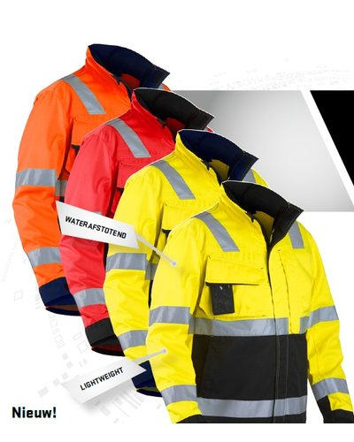 Blaklader High Vis jack met striping.