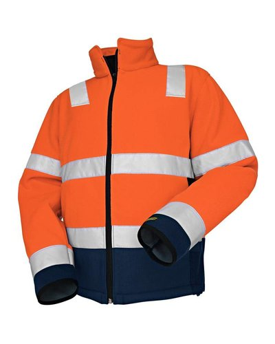 Blaklader Fleece jas High VIs met striping.