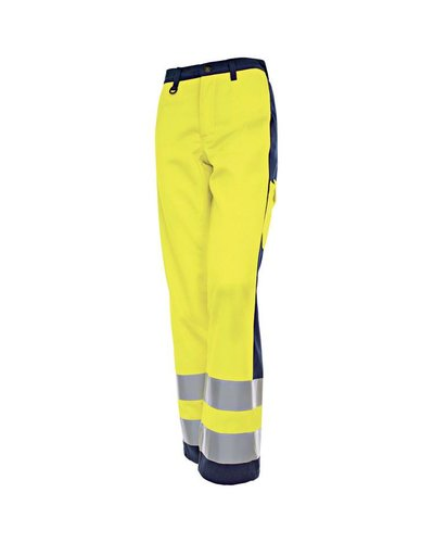 Blaklader Dames werkbroek High Vis met striping.