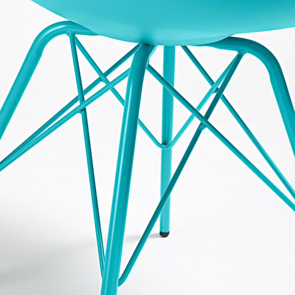 LaForma Stoel Lars metaal blauw