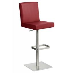 Trendy Designs RVS Barkruk Comfort Rood Leer
