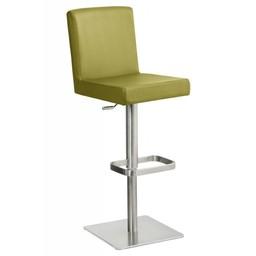 Trendy Designs RVS Barkruk Comfort Lime Leer