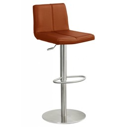 Trendy Designs RVS Barkruk Duncan Cognac Leer