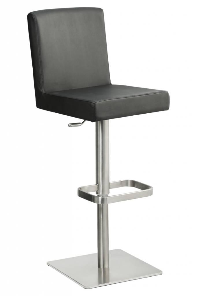 Trendy Designs RVS Barkruk Comfort Zwart Leer