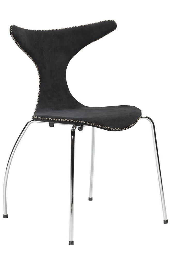 Dan Form Dan-Form stoel Dolphin Zwart Corduroy