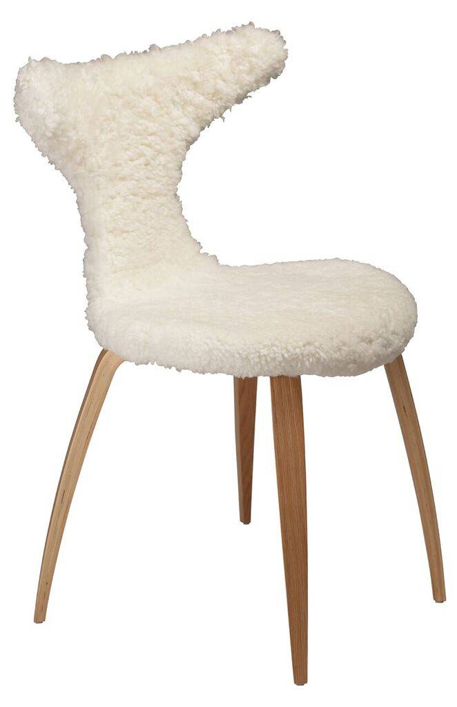 Dan Form Dan-Form stoel Dolphin Wit Lamb