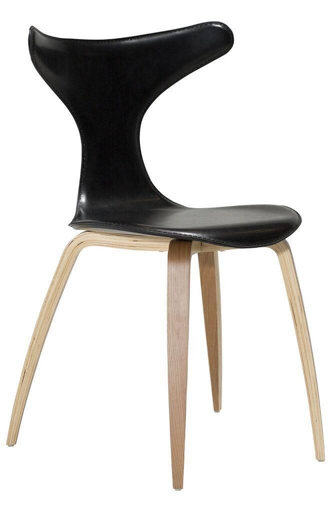 Dan Form Dan-Form stoel Dolphin Zwart leer