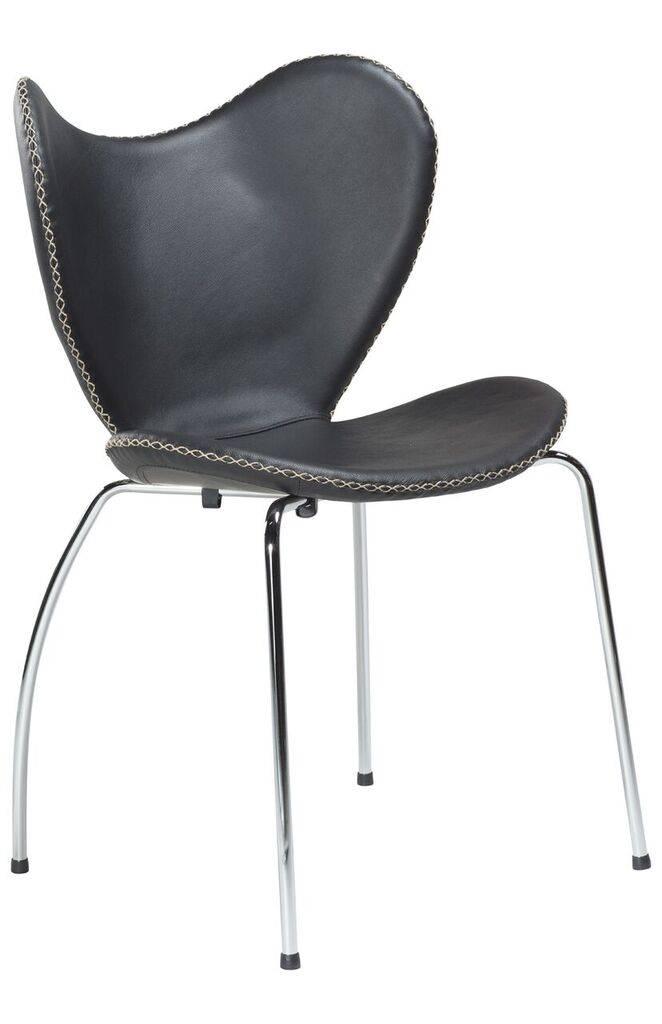 Dan Form Dan-Form stoel Butterfly Zwart leer