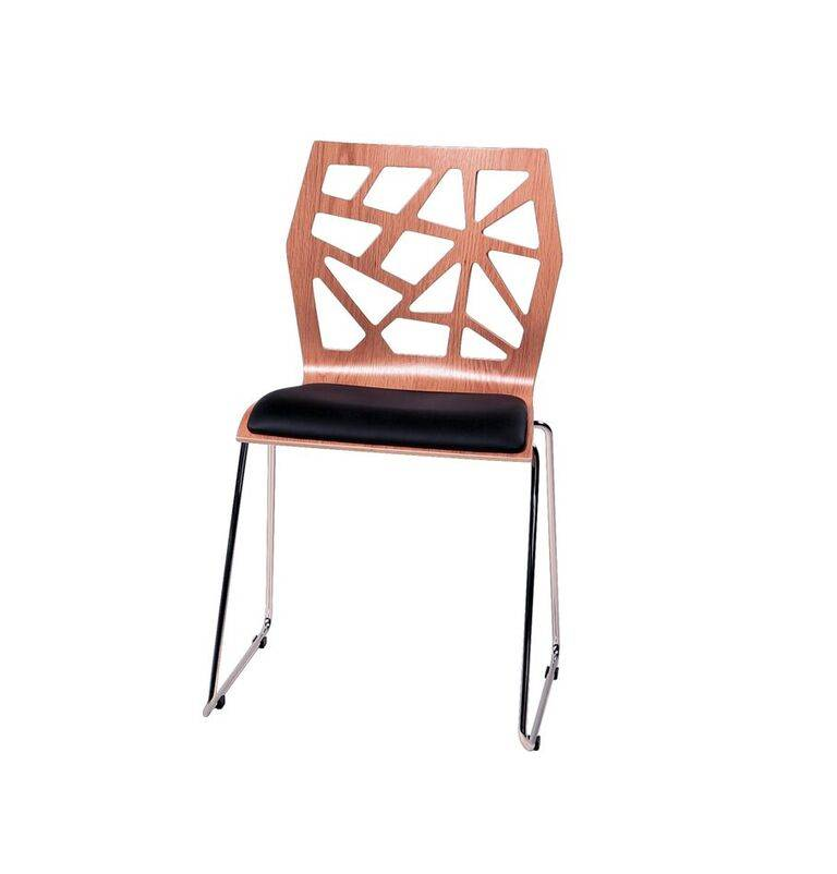 Dan Form Dan-Form stoel Funky walnoot