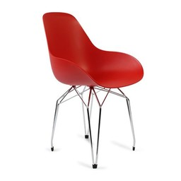 Kubikoff Stoel Diamond Dimple Closed - Chrome - Rood