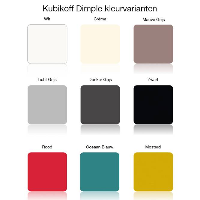 Kubikoff Kubikoff stoel Slice Dimple Closed - Wit - Eiken - Crème