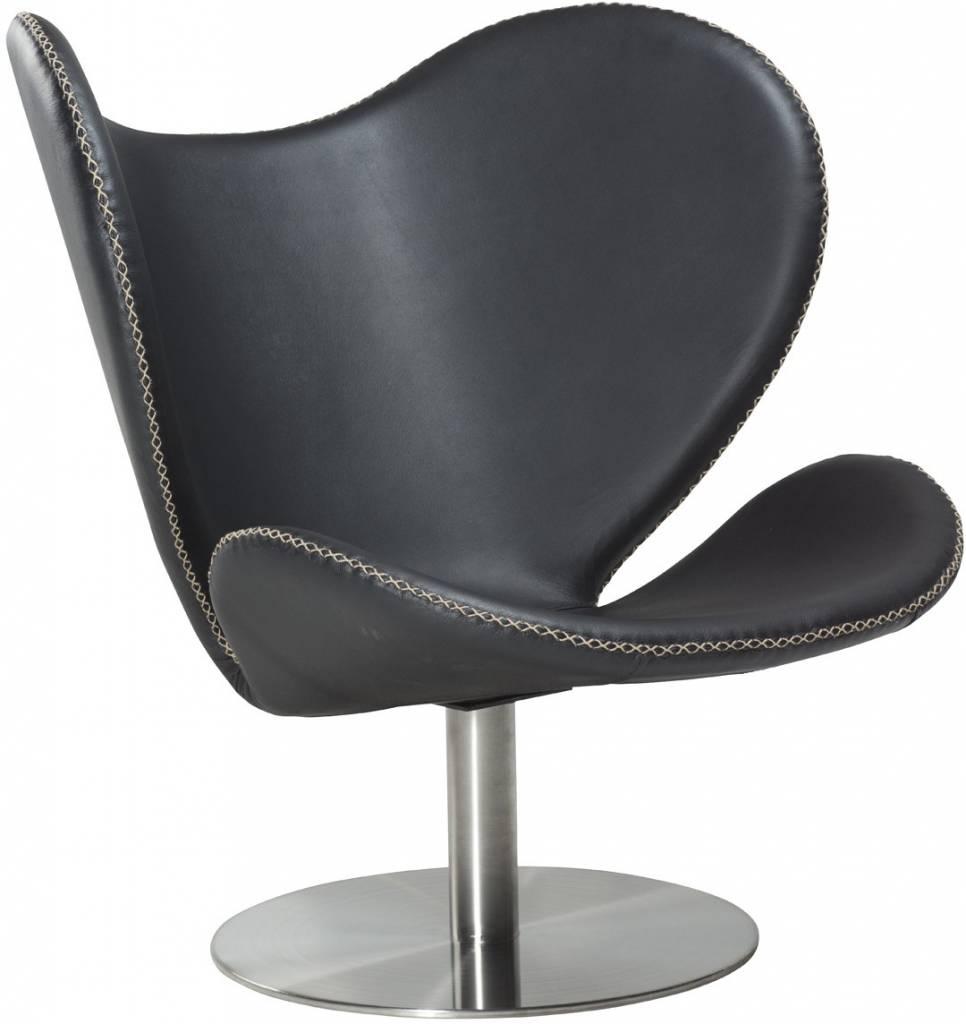 Dan Form Loungestoel butterfly zwart pu
