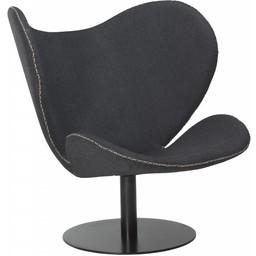 Dan Form Loungestoel butterfly grijs stof