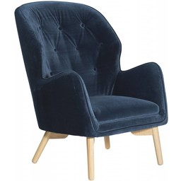 Dan Form Loungestoel Mantle blauw