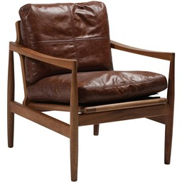 Dan Form Loungestoel Hermes bruin