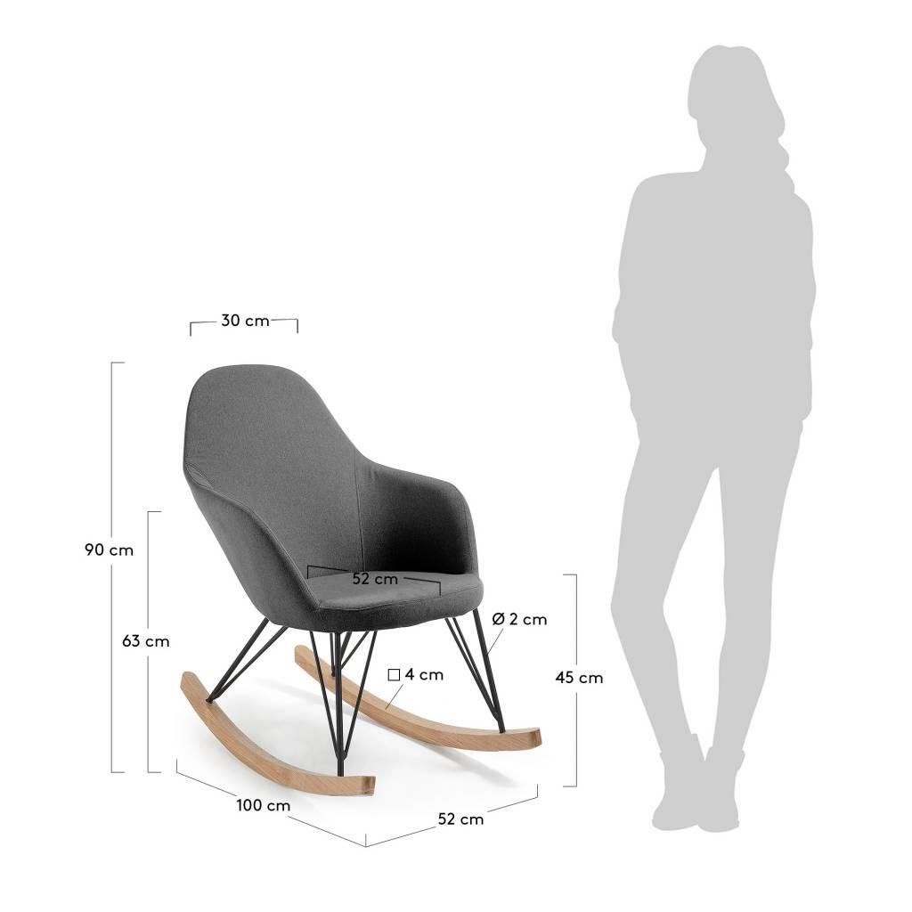 LaForma Travers schommelstoel Donkergrijs