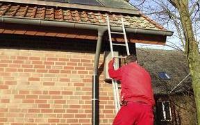 dachrinnenreinigung dachreinigung laub aus dachrinne