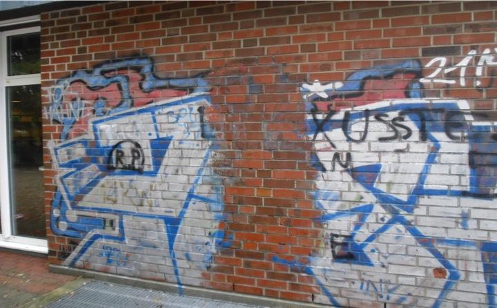 Probefläche einer Graffitientfernung