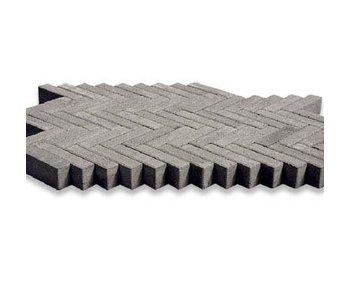 Waalformat Grau mit Fase 20x5x7 cm