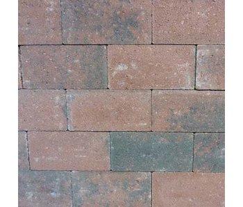 Rechteckpflaster Rot/Schwarz scharfkantig 21x10,5x7 cm