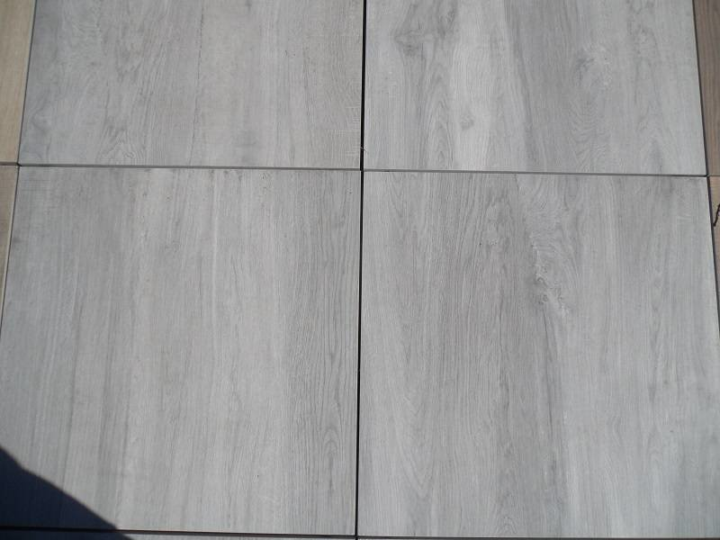 Feinsteinzeug Terrassenplatte Genua Wood Grau RC 60x60x2cm