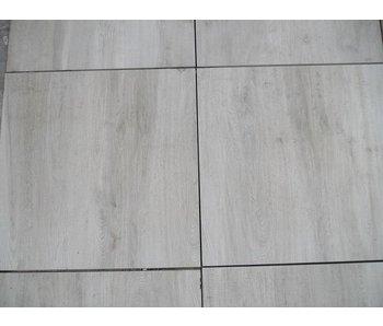Feinsteinzeug Terrassenplatte Genua Wood Weiss RC 60x60x2 cm