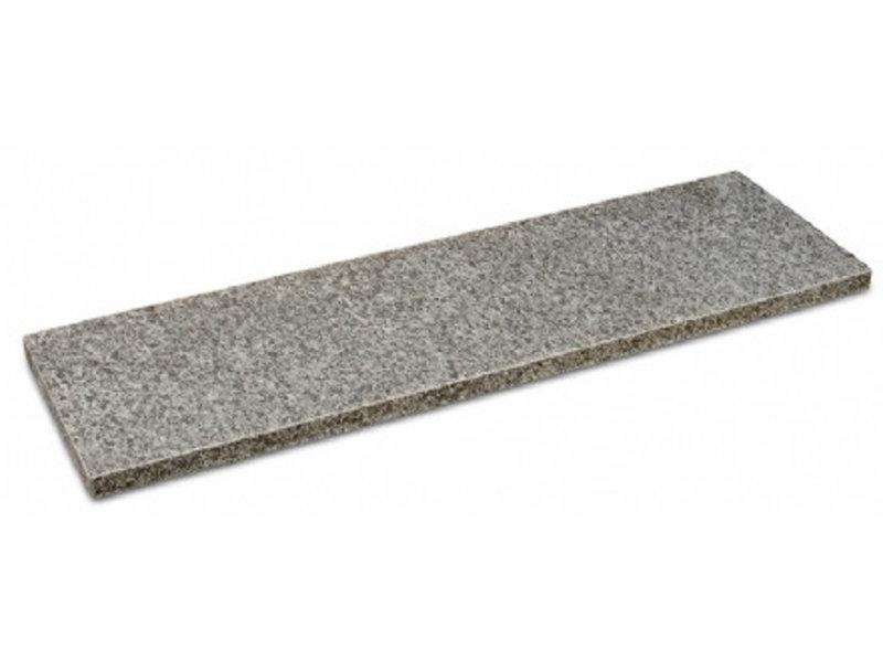 Basalt G695 Teichrand geflammt / gebürstet mit Fase 100x15x3