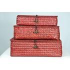 Clayre & Eef 3-pièces boîtes aux lettres rouges