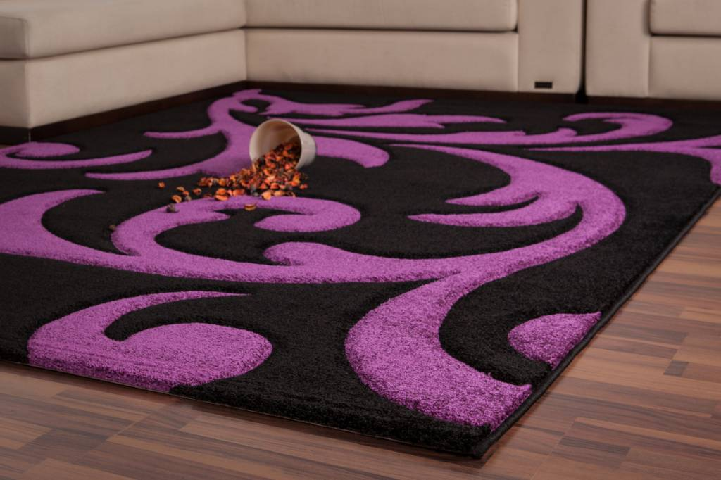 Df0062017 273 Black Purple Carpet