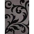 DF0062012-275 Zilver / Zwart Vloerkleed