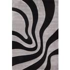 DF0062012-277 Black / Silver Rug