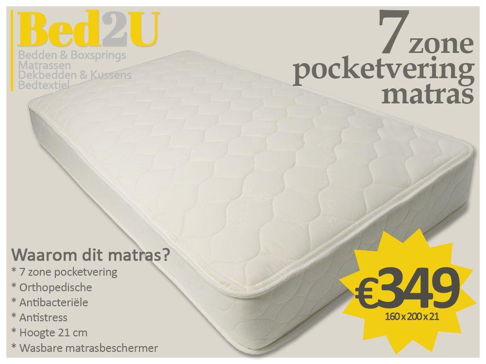 bed2u 160 x 200 de haute qualit zone 7 matelas ressorts ensach s d f. Black Bedroom Furniture Sets. Home Design Ideas