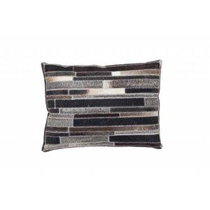 DF0062012-864 brun / gris de couleur Coussin en cuir