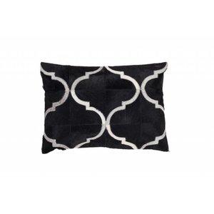 DF0062012-865 de couleur noire Coussin en cuir