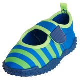waterschoen aqua blauw/groen streep